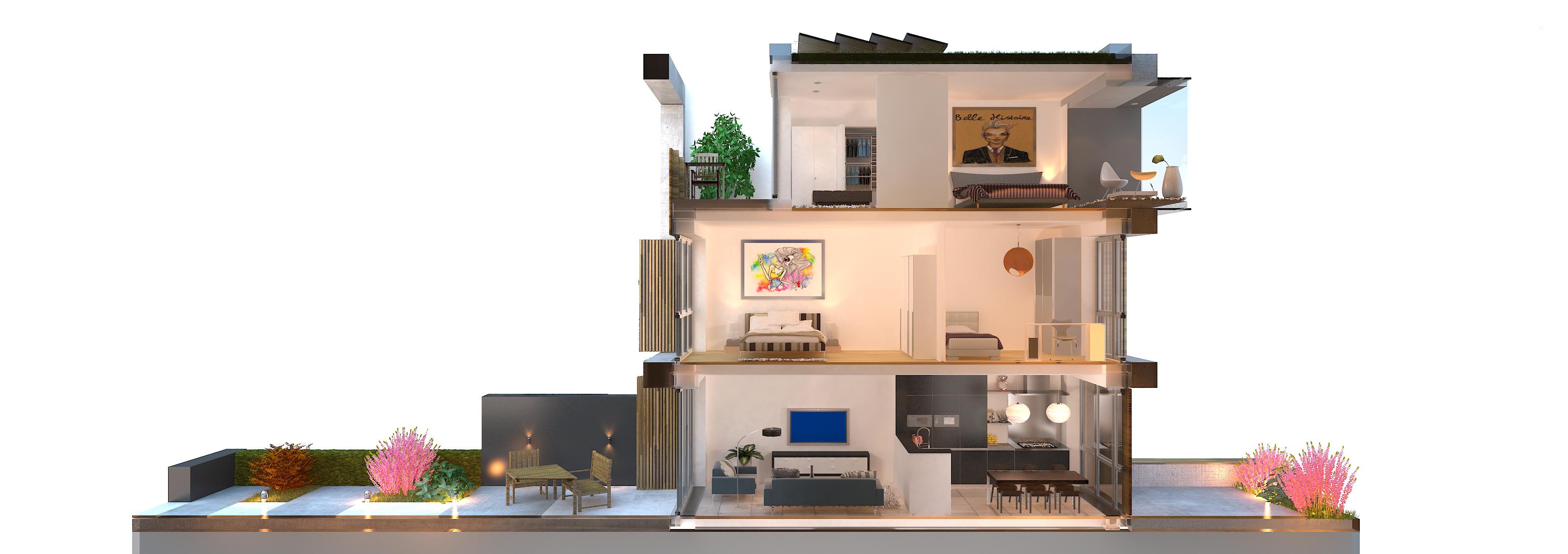 Tussenwoning zelfbouw woning droomhuis bouw eigen huis - Interieur van amerikaans huis ...